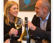Just B wines. pareja en Quinta de San Amaro.
