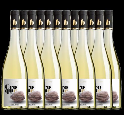 Caja de 12 botellas de Croque. Albariño D.O. Rias Baixas.