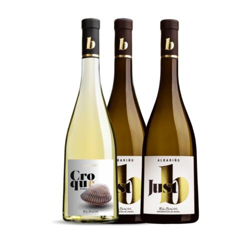 Caja de 3 botellas de 2 Justb+1 Croque. Albariño D.O. Rias Baixas.