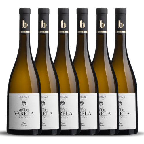 Caja de 6 botellas de Viñas de Miguel Varela. Albariño D.O. Rías Baixas.